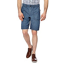 RJR.John Rocha - Dark blue chambray shorts