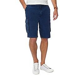 RJR.John Rocha - Navy mid wash cargo shorts
