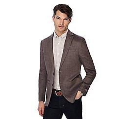 RJR.John Rocha - Big and tall brown linen blazer
