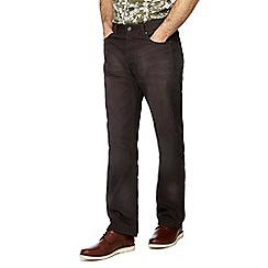 RJR.John Rocha - Big and tall dark grey denim regular fit jeans