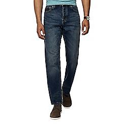 RJR.John Rocha - Big and tall blue vintage wash straight leg jeans