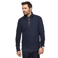 RJR.John Rocha - Navy French rib zip neck sweater