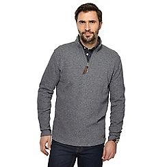 RJR.John Rocha - Big and tall grey french rib zip neck sweater