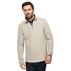 RJR.John Rocha - Natural French rib zip neck sweater