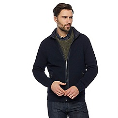 RJR.John Rocha - Big and tall navy zip though jacket