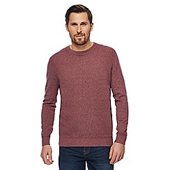 RJR.John Rocha - Big and tall dark pink textured jumper