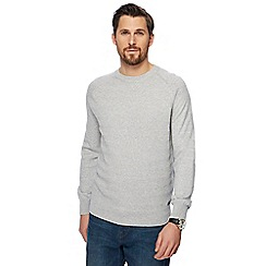 RJR.John Rocha - Grey textured chevron jumper