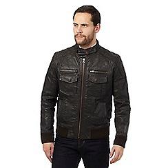 RJR.John Rocha - Brown quilted biker jacket