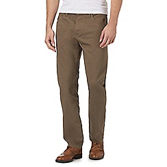 RJR.John Rocha - Light brown waffle textured trousers