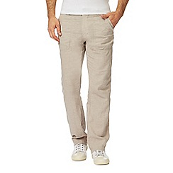 RJR.John Rocha - Big and tall natural linen trousers
