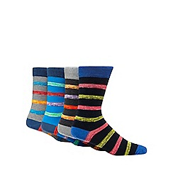 Red Herring - Pack of four multi-coloured striped socks