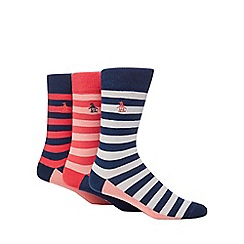 Original Penguin - Pack of three multi-coloured striped socks