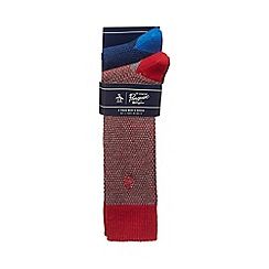 Original Penguin - Pack of two multi-coloured textured socks