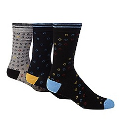 Ben Sherman - Pack of three assorted target patterned socks