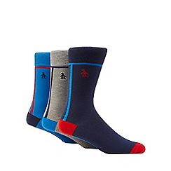 Original Penguin - 3 pack multi-coloured side stripe ankle socks