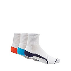 Debenhams Sports - Pack of 3 white quarter length socks