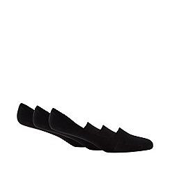 Debenhams Sports - 3 pack black gel grip liner socks