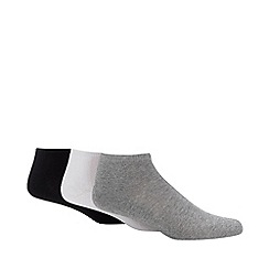 Debenhams Sports - 3 pack assorted cushioned trainer socks