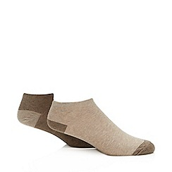Debenhams Sports - 2 pack natural trainer socks