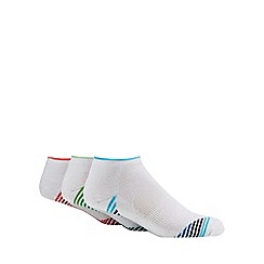 Debenhams Sports - 3 pack white cushioned trainer socks