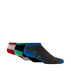 Debenhams Sports - 3 pack multi-coloured cushioned trainer socks