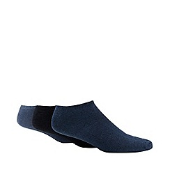 Debenhams Sports - 3 pack blue cushioned trainer socks
