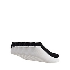 Debenhams - 10 pack black and white trainer socks