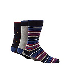 Ben Sherman - 3 pack multi-coloured patterned ankle socks