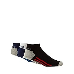 Skechers - Pack of three multi-coloured stripe trainer socks