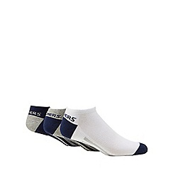 Skechers - Pack of three navy stripe no show trainer socks