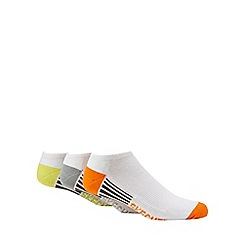 Skechers - Pack of three multi-coloured neon highlight no show trainer socks