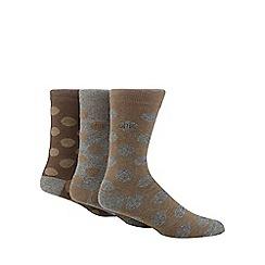 RJR.John Rocha - Designer multipack taupe tonal spots socks