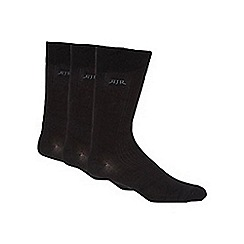 RJR.John Rocha - Pack of three designer black ribbed socks