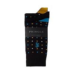 Pringle - 3 pack black spot print ankle socks