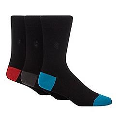 Pringle - 3 pack black bamboo socks