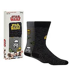 Star Wars - 2 pack black 'Stars Wars' socks