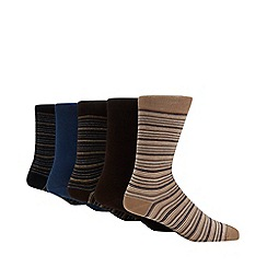 Freshen Up Your Feet - 5 pack natural striped socks