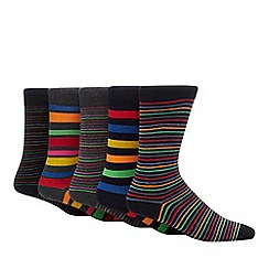 Freshen Up Your Feet - 5 pack multicoloured striped socks