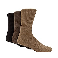 Freshen Up Your Feet - 3 pack brown odour free boot socks