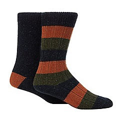 Red Herring - 2 Pack Striped Neppy Socks with Wool