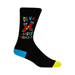 Debenhams - Black 'Oh No Socks Again' socks