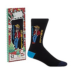 Debenhams - Black 'Cool Uncle' socks