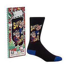 Debenhams Sports - Black 'Super Dad' socks