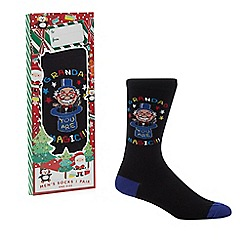 Debenhams Sports - Black 'grandad your are magic' socks