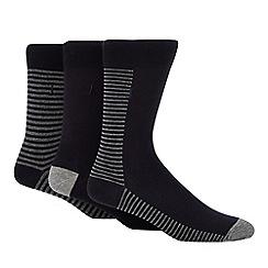 J by Jasper Conran - 3 pack navy breton stripe socks