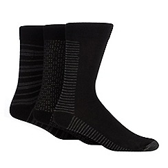 J by Jasper Conran - 3 pack black patterned socks