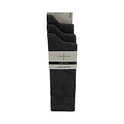 J by Jasper Conran - 3 pack grey cushioned sole socks