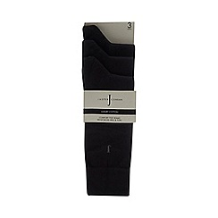 J by Jasper Conran - 3 pack black cushioned sole socks