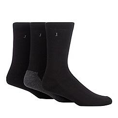 J by Jasper Conran - 3 pack black cushioned sole socks