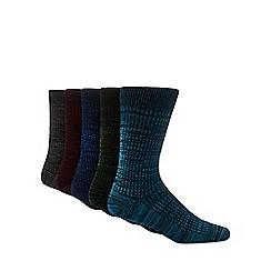 Freshen Up Your Feet - 5 pack multicoloured cotton rich socks